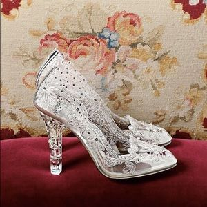 $1800 Dolce&Gabbana Cinderella Glass Slippers